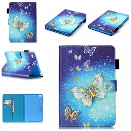 Wholesale Ipad Mini Eiffel - Eiffel Tower Elephant Dreams Flowers Painting Wallet Leather Holder Cover with Card Case For iPad 2 3 4 5 6 Air Air2 Mini