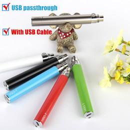Wholesale Ego Passthrough Mini Usb - Mini Wholesale UGO V Battery South Korea Hot Electronic Cigarette Battery Evod Micro Usb Electronic Ego Passthrough Battery With USB Cable