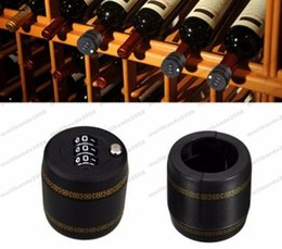 Wholesale Vacuum Pick - 2017 NEW New Plastic Bottle Password Lock Combination Lock Wine stopper vacuum plug device Fechadura Picks Candados Stopper Preservation MYY