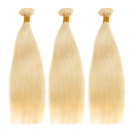 Wholesale Silky Straight Remy Blonde Weave - Free Shipping Human Hair 3 Pcs lot 100g Blonde Hair Straight Bundles Weft Brazilian Straight human Hair Weaves Silky Straight Blonde