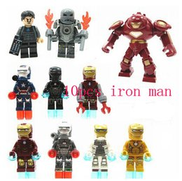 Wholesale Iron Block - Building Blocks Super Heroes The Avengers Iron Man Hulk Buster Bricks Action Figures Toys Bricks Toys For Children's gifts Christmas