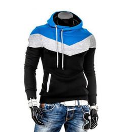 Wholesale Designer Hoodies Wholesale - Wholesale- Men's Hoodies New Designer Hoodies Men Sweatshirts Slim Fit Hooded Pullover Sportswear Autumn Male Tracksuits Moleton XXXL