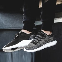Wholesale Racer Blue - New 2017 Tubular Shadow Ultra Boosts Men Women's Racer Running shoes Breathable Mesh Sport Black White Blue Sneaker Trainers 350 EUR 36-45