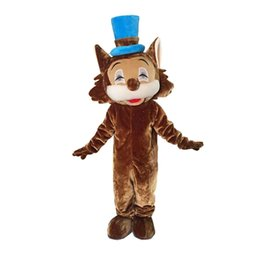 Wholesale Costume Mascots Cat - Little Brown Cat Mascot Costumes Cartoon Character Adult Sz 100% Real Picture