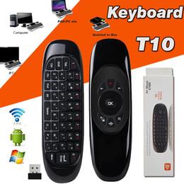 2019 clavier pour apple tv Mini Clavier C120 T10 Télécommande Sans Fil Contrôleur De Jeu 6 Gyroscope 2.4GHz Air Mouse Pour MXQ Pro M8S Mini MX TV Box Avec Boîte Au Détail