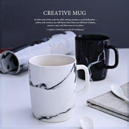 bone china tea cups wholesale Canada - 350ml Marble grain mug drinkware water bottle ceramic cups kitchen dinnerware coffee mug tea cup
