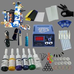 Wholesale Tattooing Kits For Beginners - Tattoo Kits for Beginner Tattoo Ink Set LCD Power Supply Permanent Makeup Tattoo Kit Set
