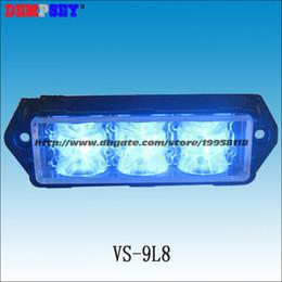 Wholesale 24v Police Lights - VS-9L8-Y Super bright LED Grill Lights,Police ambulance emergency lights, Blue LED surface mount Strobe Warning Flashing Light