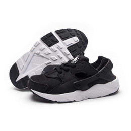 Wholesale Patent Leather Upper - Popular Children Sports Shoes Cheap Retro Kids Air Huarache Shoes for Outdoor Air Mesh Upper Material Hot Sale