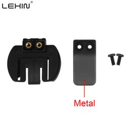 Wholesale R4 Wholesale - Wholesale- Free shipping 1 pcs Metal Clip Clamp Set Accessories for Clamp LX-R6 R4 R3 1200M Motorcycle Bluetooth Helmet Interphone Intercom