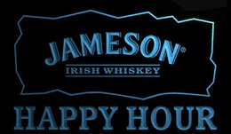 Wholesale Irish Bar Signs - LS772-b-Jameson-Irish-Whiskey-Happy-Hour-Bar-Neon-Sign Decor Free Shipping Dropshipping Wholesale 6 colors to choose