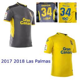 Wholesale Prince Homes - 2017 2018 UD Las Palmas jerseys 17 18 home away Las Palmas soccer jeseys thai quality Valeron Prince Jese Vitolo Araujo football shirts