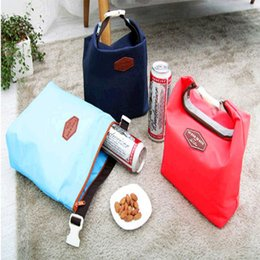 Wholesale Food Korea - Top four colors Korea iconic fashion casual creative picnic bag ice pack cooler bag lunch bag DHL free JU195