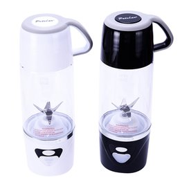 Wholesale Hand Blenders Mixers - 7*24.4Cm New Arrival Personal Blender With Travel Cup USB Fruit Juicer Fruit Mixing Machine Electric Juice Blender Mixer Multi Colors 600Ml