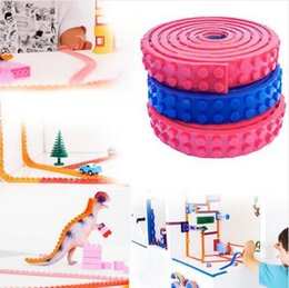 Wholesale Wholesale Sticky Dots - 1M 2x126 Dots Small Nimuno Loops Plastic Tape Blocks Base Plate Building Blocks DIY Baseplate With Sticky Backing b812