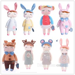 Wholesale Cotton Baby Toys - Metoo Plush Dolls For Baby Kids 13 Inch Angela bunny Rabbit Dolls ovely stuffed PP cotton Toys dolls girl birthday gift KMT01