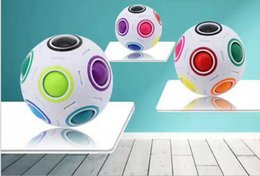 Wholesale 3d Puzzle Ball Game - 100% New Brand 65mmSpeed Rainbow Ball Football 3D Magic Cube Kids Educational Learning Toy game for Children