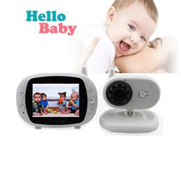 Wholesale Lcd Wireless Baby Monitor - Wholesale- 3.5 inch color LCD monitor Video Wireless Baby Monitor Security Camera 2 Way Talk Nigh Vision IR LED Temperature Monitoring