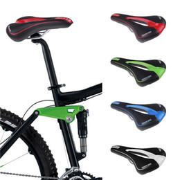 Wholesale 14 Inch Blue Bike - New Road Mountain MTB Gel Comfort Saddle Bike Bicycle Cycling Seat Cushion Pad free shipping