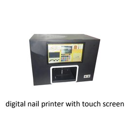 Wholesale Digital Nail Print - Fully New Digital Nail Inkjet Printer with Touch Sreen Black Color for Printing Images on Fingers Roses with DHL Free Shipping