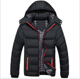 Wholesale Padded Hat - Autumn and Winter the Best Men's Style Slim down thick cotton padded jacket Size XL-XXXL Warm Man's Parkas