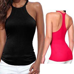 Wholesale Women Vest Tube - Wholesale- Women U neck bustier crop top sexy camis off shoulder elastic tube tank tops Y Camisole Halter Top Sleeveless Cropped Vest W2