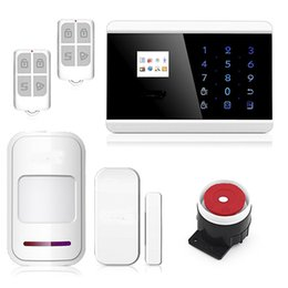 Wholesale Auto Alarm Security System - Professional IOS Android App Touch keypad TFT color Display GSM PSTN Home Security Alarm System Kit with Auto Dial