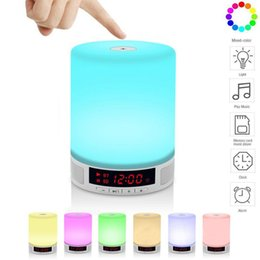 Wholesale Mini Alarm Speaker - L2 Wireless Bluetooth Speaker 2 IN 1 Adjustable Colorful LED Night Light Stereo Subwoofer Handsfree Alarm Clock Music Player
