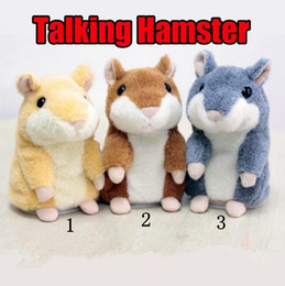 Wholesale Pet Talking Hamster - Talking Hamster Mouse Pet Plush Toy Cute Speak Talking Sound Record Hamster Stuffed Animals Anime Toys OOA2062