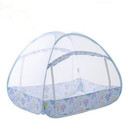 Wholesale Doors Canopy - Wholesale- Folding Baby Bed Mosquito Netting Tent Portable Baby Bed Canopy Multi function Mongolian Yurt Mosquito Net For Children Bed