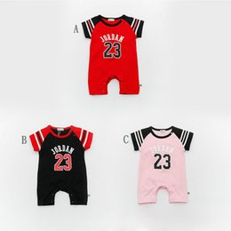 Wholesale Models Boys - 13265 Summer models baby cotton digital conjoined baby movement short-sleeved jersey