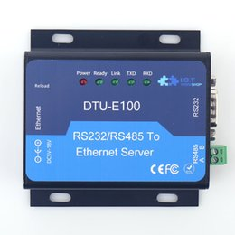 Wholesale Tcp Rs232 Converter - Rs232 RS485 to RJ45 Converter TCP IP 10 100 Ethernet