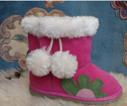 Wholesale Lace Pad - 2016 Winter Baby Girl Fashion cotton-padded Snow Boots children sun flower boots baby Non-slip snow boots Warm Free Shippi
