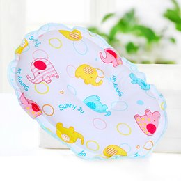 Wholesale Newborn Head Support Pillow - Wholesale- Cotton Concave Prevent Flat Head Baby Pillow Infant Toddler Sleeping Headrest 1pcs Newborn boys girls Soft support Neck Pillows