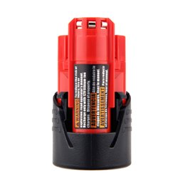 Wholesale Milwaukee 48 - battery replacement High Quality 2PCS 12V 2000mAh Li-Ion Replacement Power Tool Battery for Milwaukee M12 C12 BX C12 B 48-11-2402 48-11-2401