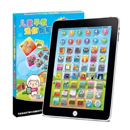 Wholesale Tablet Notebook Pads - Free Ship Toy Tablet English Computer Laptop Y Pad Kids Game Music Phone Learning Education Electronic Notebook Early Machine