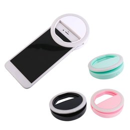 Wholesale Flash Portable - Portable Universal Selfie Ring Flash Lamp Mobile Phone LED Fill Light Selfie Ring Flash Lighting Camera Photography For Iphone Samsung