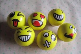 Wholesale Toys Sold Christmas - Popular hot selling 6.3cm Emoji Faces Squeeze Stress Ball Hand Wrist Finger Exercise Stress Relief Therapy Assorted Styles Christmas gifts