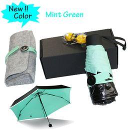 Wholesale Smallest Automatic Umbrella - 2017 Quality Mini Pocket Umbrella, Women Sunny and Rainy Mini Fashion Folding Umbrellas 195g small sun Parasol Umbrella rain women