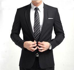 Wholesale Tie Color For Grey Suit - New Arrival Fashion Brand Men Slim Fit Suits Man Business Formal Suit with Pants Tuxedo Bridegroom Wedding Suits for Men(Jacket+Pants+tie)