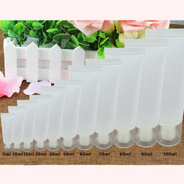 Wholesale Frosted Plastic Tube - 5ml 10ml 15ml 20ml 30ml 50ml 100ml Clear Plastic Lotion Soft Tubes Bottles Frosted Sample Container Empty Cosmetic Makeup Cream Container