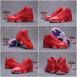 Wholesale Numbered Cushions - 2017 Retro 11 XI 11s 72-10 Red For Men Basketball Shoes With Number 23 Air Sports Sneakers Size 40-47