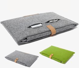 Wholesale Laptop Bags China - leather Felt Shockproof notebook Liner bag for Macbook ipad air pro 11 13 15 inch laptop bag protective sleeve tablet cases GSZ220