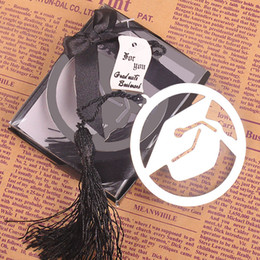 Wholesale Graduation Tassels Wholesale - Dr. Cap Metal Bookmark with Tassel Graduation Gift Bookmark Shower Wedding Party Favors and Gifts WA1641