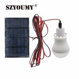Venta al por mayor- 1 Unids 0.8W / 5V 150 Lúmenes Lámpara de Bombilla LED de Energía Solar Portátil Panel Solar Aplicable Campamento de Campaña Al Aire Libre Lámpara de Pesca Luz de Jardín desde fabricantes