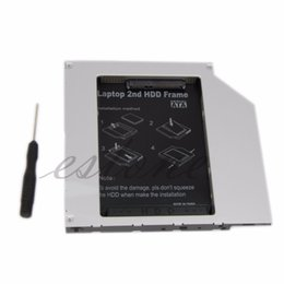Wholesale Sata Ide Hard Drive Caddy - Wholesale- New Universal 9.5mm PATA IDE to 2nd SATA HDD Hard Drive Disk Caddy Module