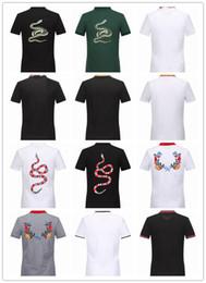 Wholesale Tshirts Slim Sleeve Mens - GG16522 Brand T Shirt 100% Cotton 2017 New Tee Shirts Logo Pattern Print Tshirts Short Fit Slim Casual Mens Tee O neck T-Shirt M-XXXL