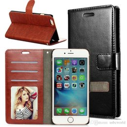 Wholesale Universal Leather Pocket Case White - High Quality Wallet PU Leather Cases with Card Slot Photo Frame For Iphone 6S 7 Plus S6 S7 Edge S8 Pllus Note 5