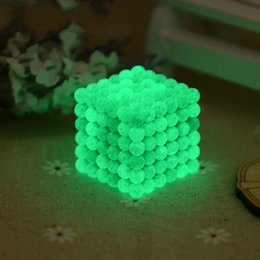 Wholesale 5mm Bucky Ball - 222pcs 5mm Noctilucent Bucky Ball Luminous Magnetic Buckyballs Fluorescent Creative Puzzle Magic Cubes Toy Sphere Magnet For Kid Adult 58hp