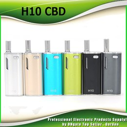 Wholesale Blue Upgrades - Original Hibron H10 Oil Starter Kits 650mAh Battery Box Mod 0.8ml H10 Upgraded CE3 Atomizer Vape Pen Vaporizers 100% Genuine 0209640